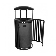 Streetscape™ East Hampton Outdoor Trash Receptacle with Canopy