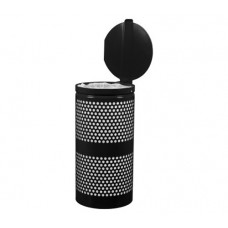 Landscape Series™ Perforated Waste Receptacle with Lid
