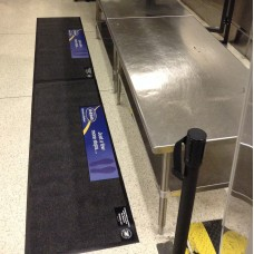 TSA and Airport Security Antimicrobial Disposable Checkpoint Runners (w/ Advertising)