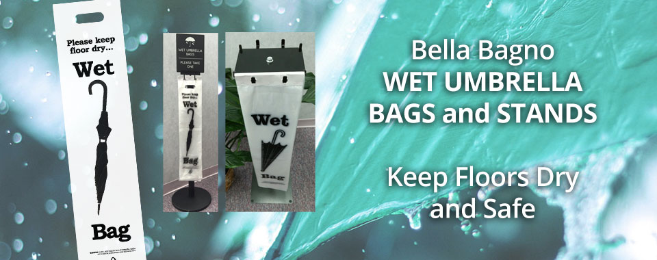 Wet Umbrella Bags and Stands