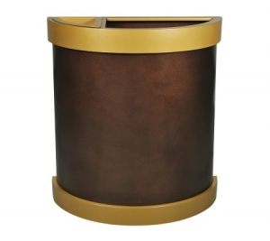 Arena Collection™ Half Round Ash/Trash Receptacle